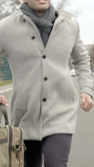 man running away - cardigan sweater stock videos & royalty-free footage