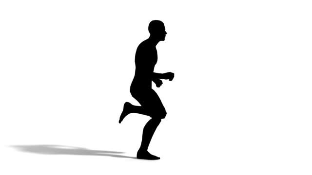 man running - plain background stock videos & royalty-free footage