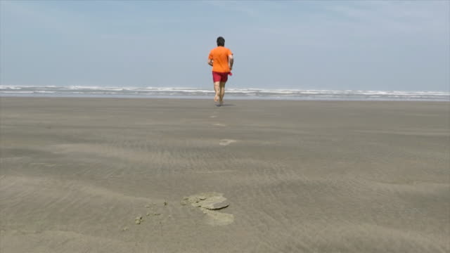 man running - barefoot stock videos & royalty-free footage