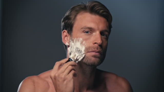 man shaving his face - razor stock videos & royalty-free footage