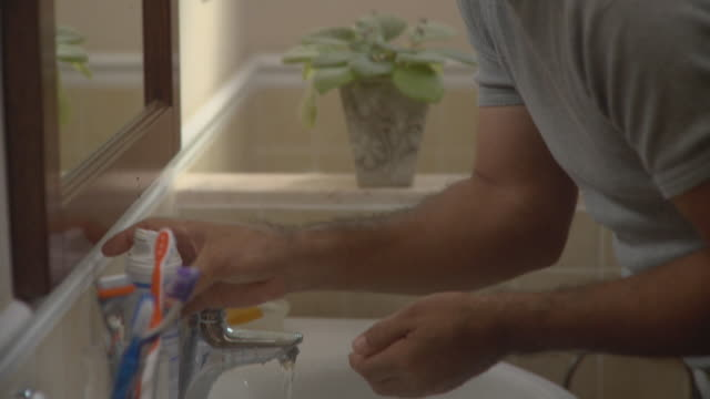 cu tu man shaving in bathroom / havana, cuba - razor stock videos & royalty-free footage