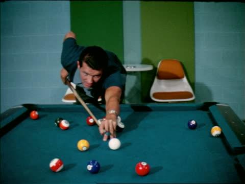 1963 man shooting pool / industrial
