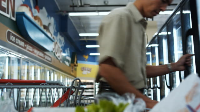 man shopping for groceries