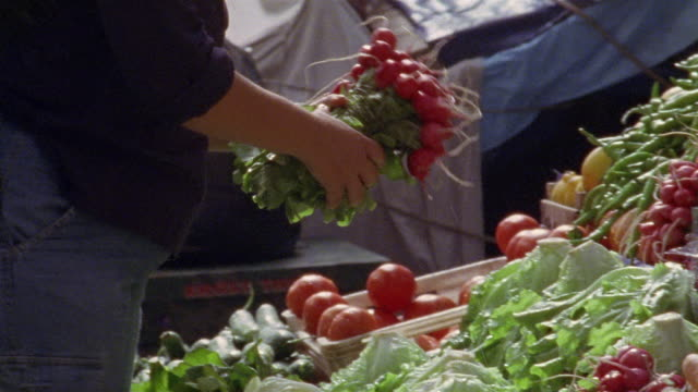 ms man shopping for vegetables at market/ istanbul - crucifers stock videos & royalty-free footage