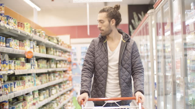 man shopping - hair bun stock videos & royalty-free footage