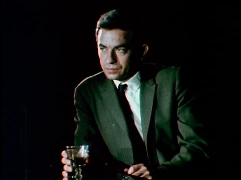 1967 ms man sitting at bar drinking, los angeles, california, usa, audio - bar counter stock videos & royalty-free footage