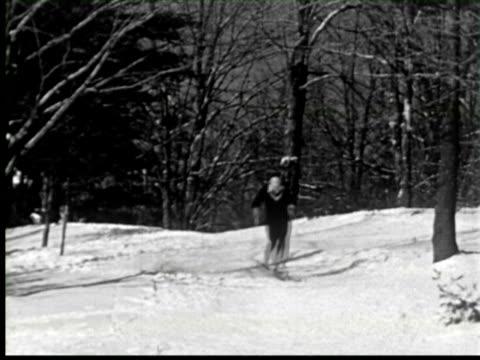 b/w man skating with speed in snow, ottawa, canada / audio - ottawa stock videos & royalty-free footage