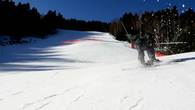 Man skiing on a ski slope.