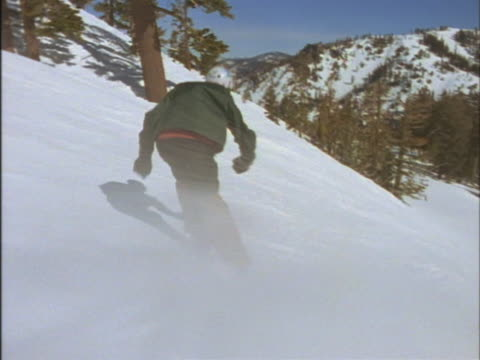 man skiing without poles - digital camcorder stock videos & royalty-free footage