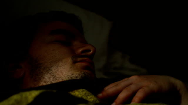 man sleeping and snoring - snoring stock videos and b-roll footage