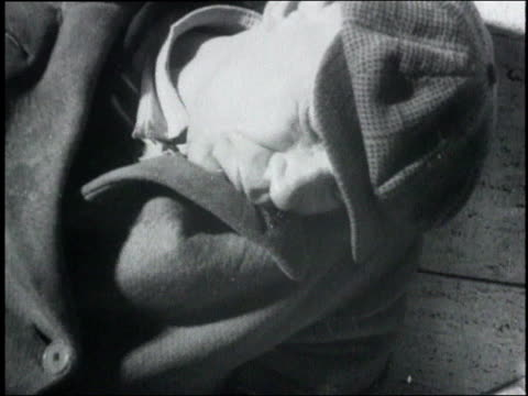 man sleeping leaned against bench / usa - 1932 stock videos & royalty-free footage