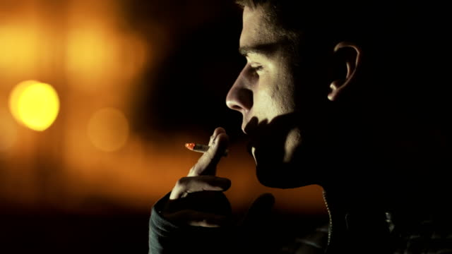 Man smoking ciggarette