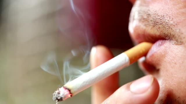 Man Smoking, Slow motion