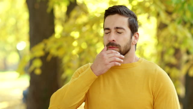 man sneezing - hay fever stock videos & royalty-free footage
