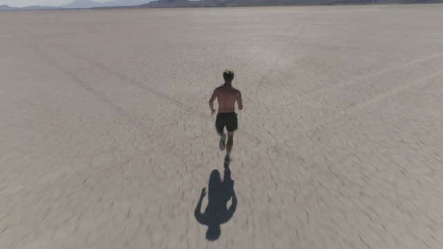 Man Sprinting in the Desert