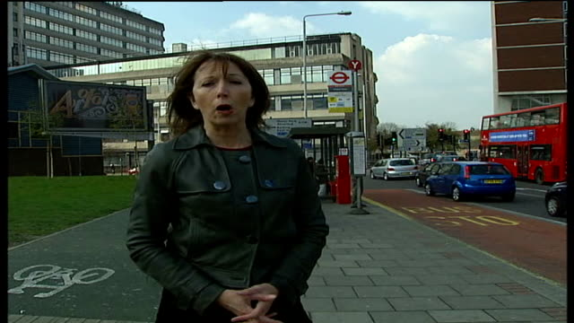 man stabbed to death at bus stop in ilford; reporter to camera - ilford stock videos & royalty-free footage