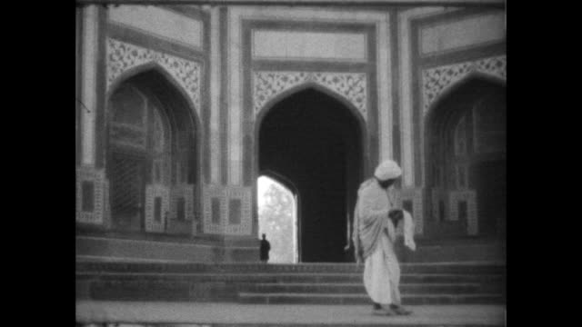 man standing under archway of the great gate . - colonial stock videos & royalty-free footage
