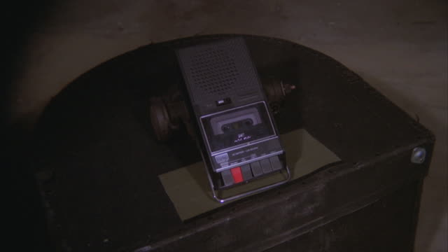 ms zi man stop tape cassette recorder / unspecified - cassetta video stock e b–roll