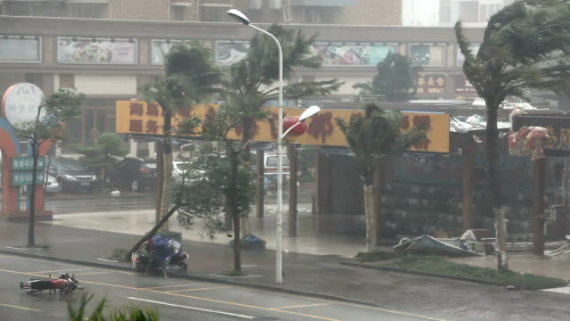 Man Struggles In Fierce Hurricane Eyewall Winds