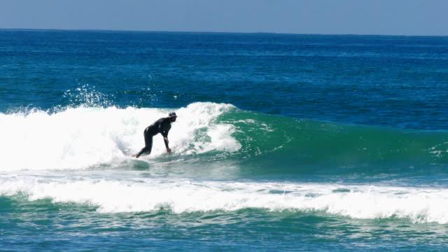 Man Surfing in Blue Water