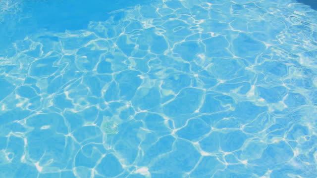 vidéos et rushes de man swimming in a swimming pool outdoors - un seul homme d'âge moyen