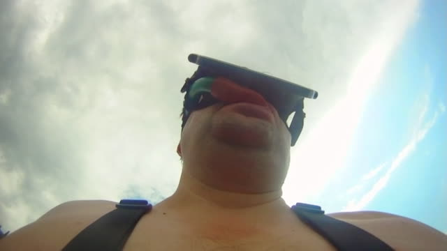 man swimming in diving mask - 2010 stock videos and b-roll footage