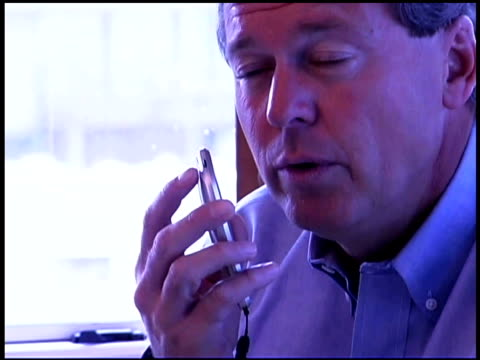 man talking into recorder - one mature man only stock videos & royalty-free footage