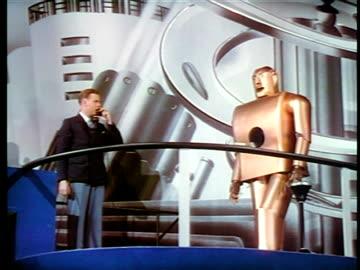 man talking to robot next to him thru telephone / new york world's fair / industrial - new york world's fair stock videos & royalty-free footage