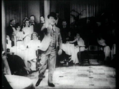 1926 ms man tap dancing in front of audience, falls - tap dancing stock videos & royalty-free footage