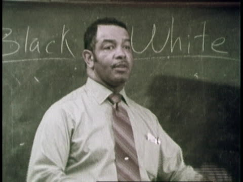 montage man teaching class of coworkers about racial issues / united states - 1970 stock videos & royalty-free footage