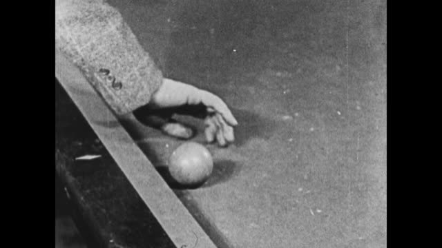 1924 man throws billiard ball and hits wrong person - ball stock videos and b-roll footage