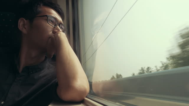 Man travel on train