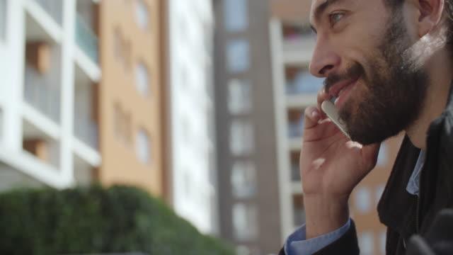 Man Using Phone Outdoors