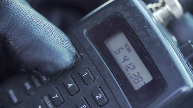ECU of man using radio scanner