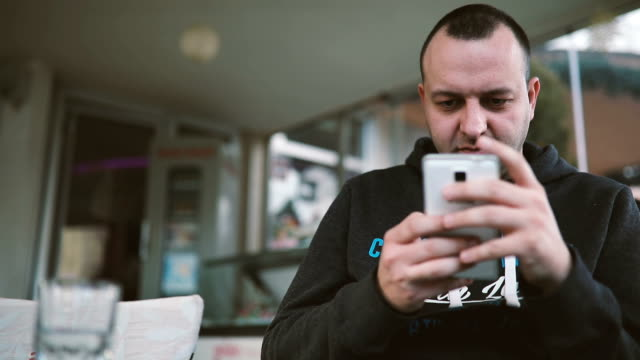 Man Using Smart Phone Call, Communication On Line Social Message