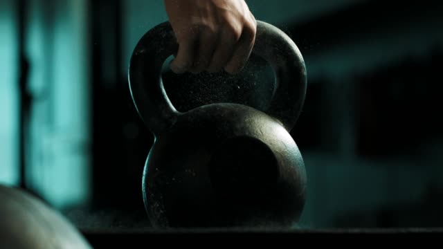man using the kettlebell - kettlebell stock videos & royalty-free footage