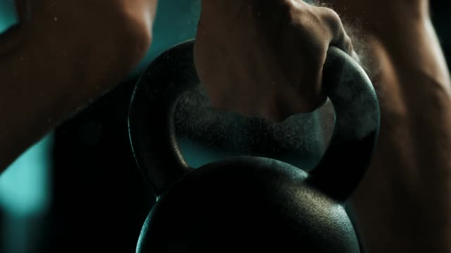 man using the kettlebell - weight training stock videos & royalty-free footage