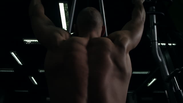 man using weight machine - body building stock videos & royalty-free footage