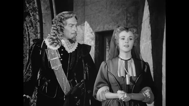 a man (morris carnovsky) visits a woman (mala powers) in mourning in 17th century france - 17th century stock videos & royalty-free footage