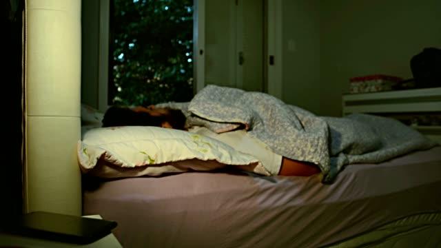 Man wake up alarm clock