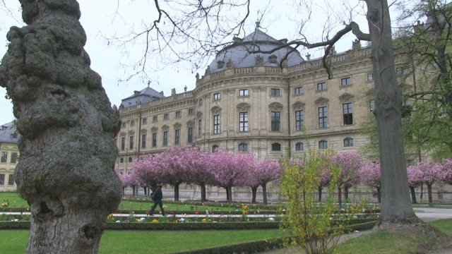 ms man walking in court gardens at wurzburg residence / wurzburg, bavaria, germany - wurzburg stock videos and b-roll footage