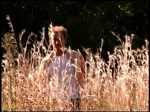 man walking in grassy field - one mid adult man only stock videos & royalty-free footage