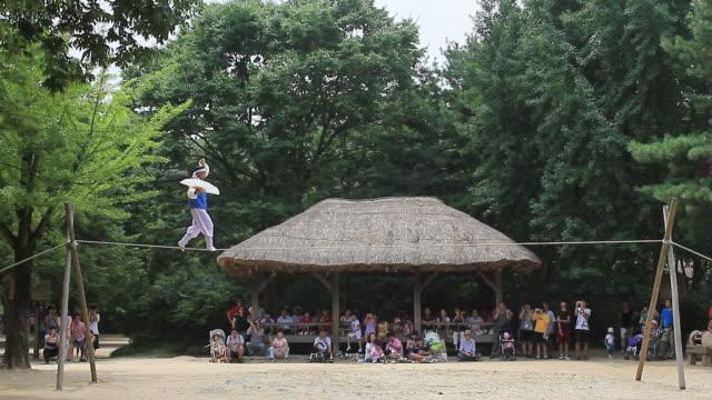 WS Man walking on a tightrope / Yongin, Gyeonggido,  South Korea