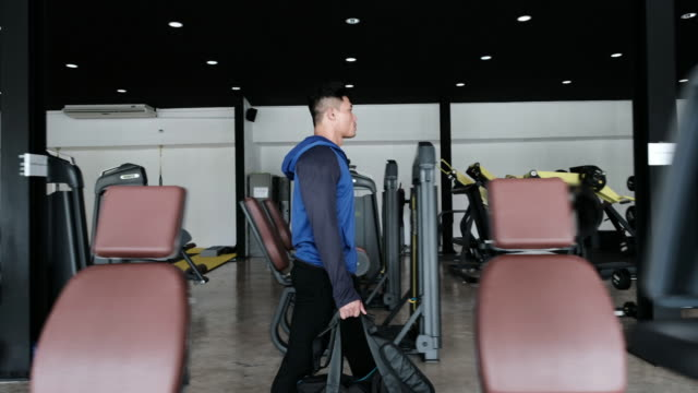 man walking to gym - exercise equipment stock videos and b-roll footage