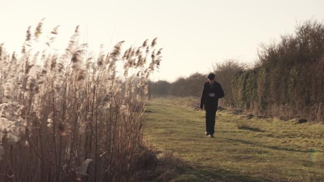man walking - one senior man only stock videos & royalty-free footage