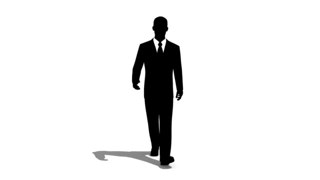 man walking - outline stock videos & royalty-free footage
