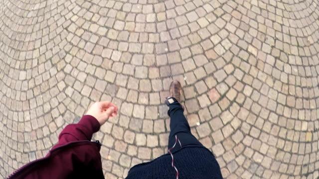 man walking pov - kullersten bildbanksvideor och videomaterial från bakom kulisserna