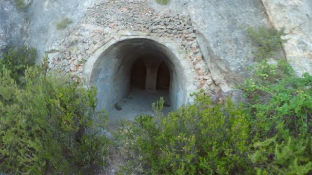 Man walks into the tunnel