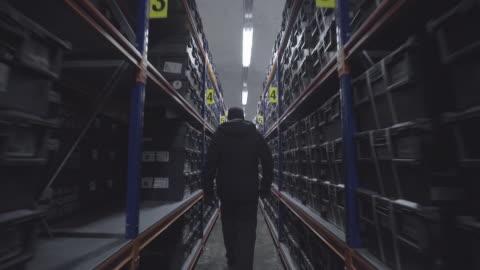 man walks through global seed vault storage facility - seed stock videos & royalty-free footage