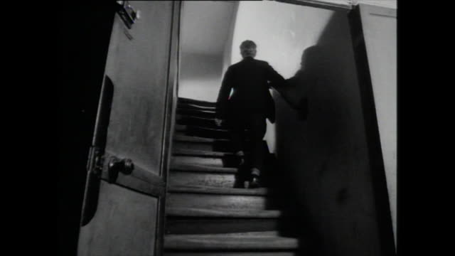 man walks up staircase - 1959 stock videos & royalty-free footage